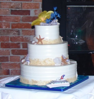 Caribbean Cruise Wedding Cake
