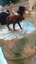 Moose with Top Hat Groom's Cake
