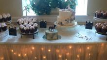 Country Shabby Chic Cupcake Display